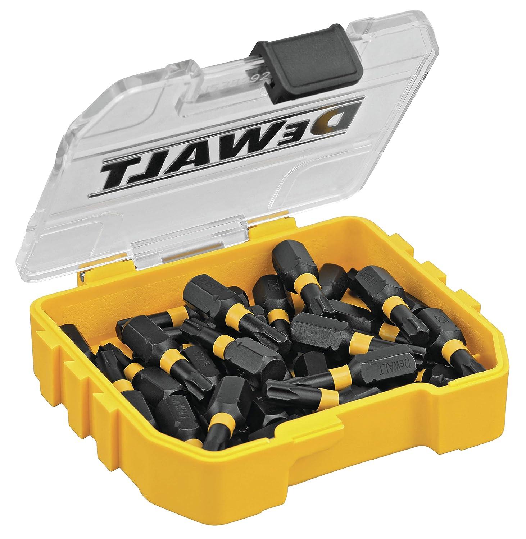 DEWALT DWA1TX25IR30 FlexTorq 30-Piece 1//4-in x 1-in Torx Impact Driver Bit