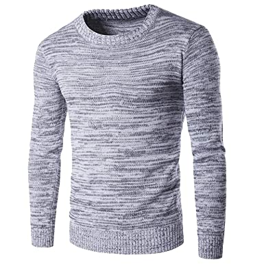 081a04d6461e Autumn Winter Mens Pullover Sweaters Cotton Casual O Neck Sweater Jumpers  Knitwear Jumpers Top M-