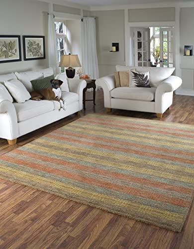 Momeni Rugs Gramercy Collection, 100 Wool Hand Loomed Contemporary Area Rug, 5 x 8 , Multicolor
