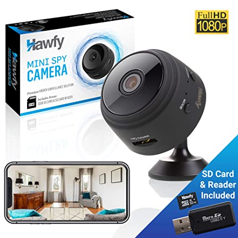 Amazon.com: Hawfy - Cámara oculta inalámbrica mini HD ...