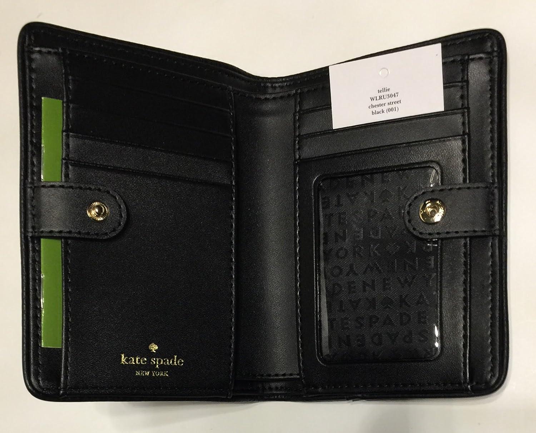 19705035582a5 Kate Spade New York Chester Street Tellie Medium Wallet WLRU3047 (Black)   Amazon.ca  Shoes   Handbags