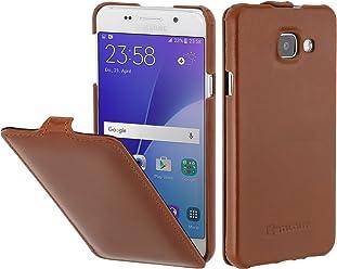 StilGut UltraSlim Case, Custodia in Pelle per Samsung Galaxy A3 (2016), Cognac