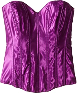 977dc00a4b Escante Women s Sweetheart Cut Satin Corset Lace Up Back and Side Zipper