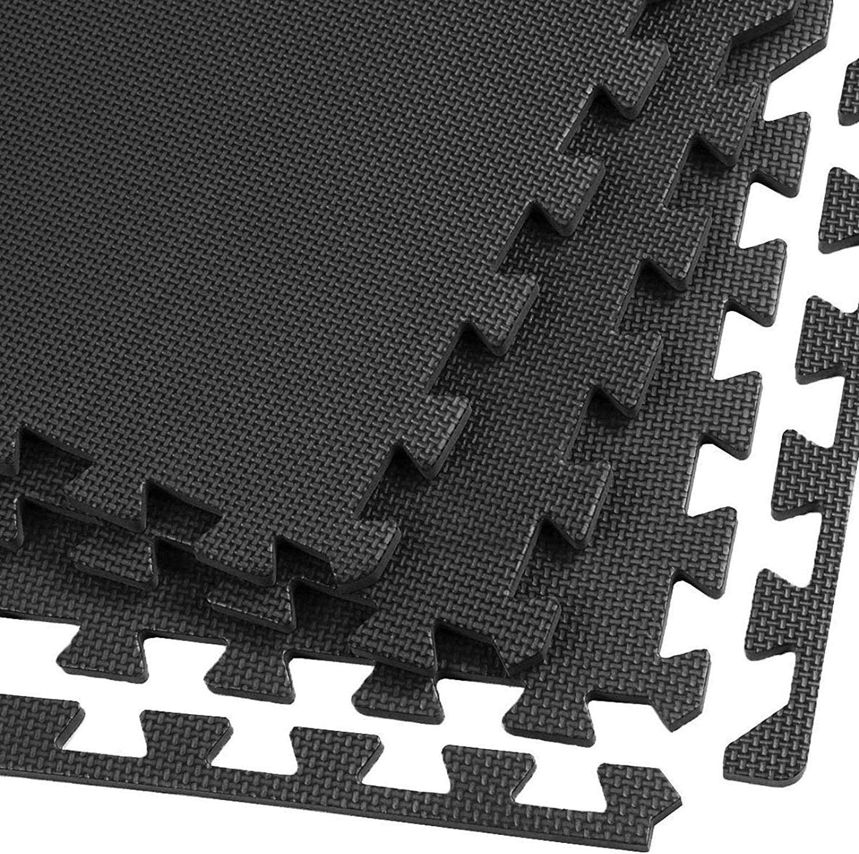 "VLFit Interlocking EVA Puzzle Mats 12 24/"" x 24 - Choose from lots of 6 18 or 36 Mats Size 10mm x 610mm x 610mm"