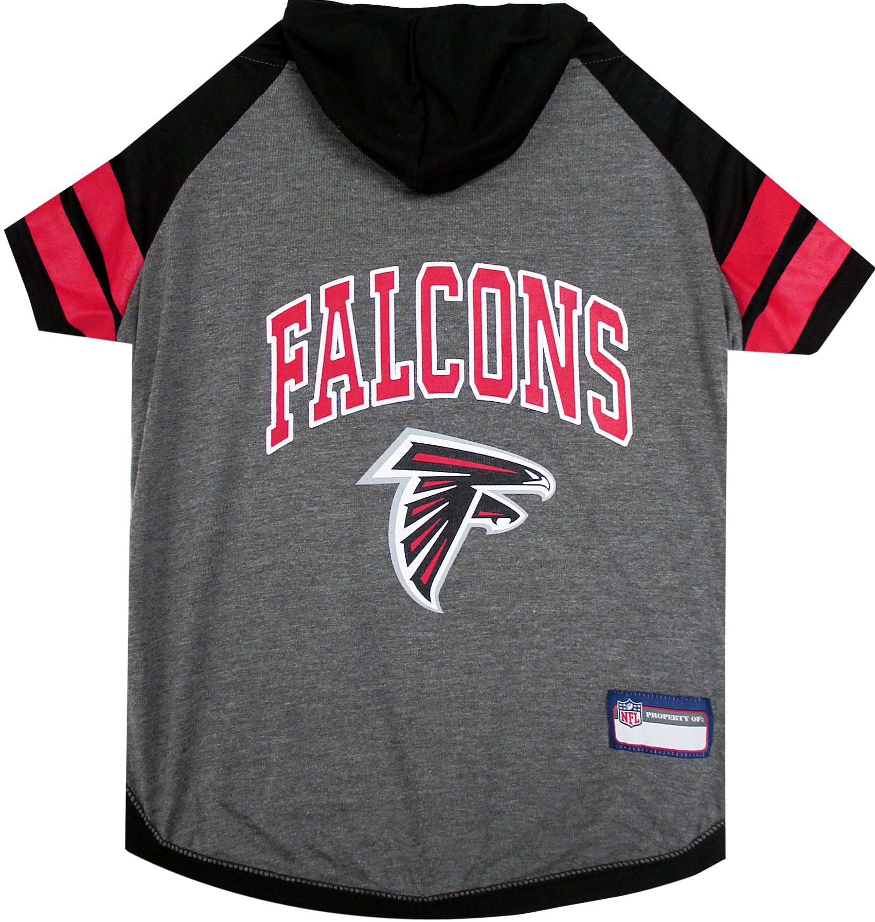 NFL ATLANTA FALCONS HOODIE for DOGS & CATS. | NFL FOOTBALL licensed DOG HOODY Tee Shirt, Small| Sports HOODY T-Shirt for Pets | Licensed Sporty Dog Shirt.