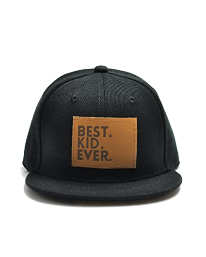 Amazon.com  Littlest Prince Couture Best Kid Ever Snapback Hat Black ... 9bc2558cfa6