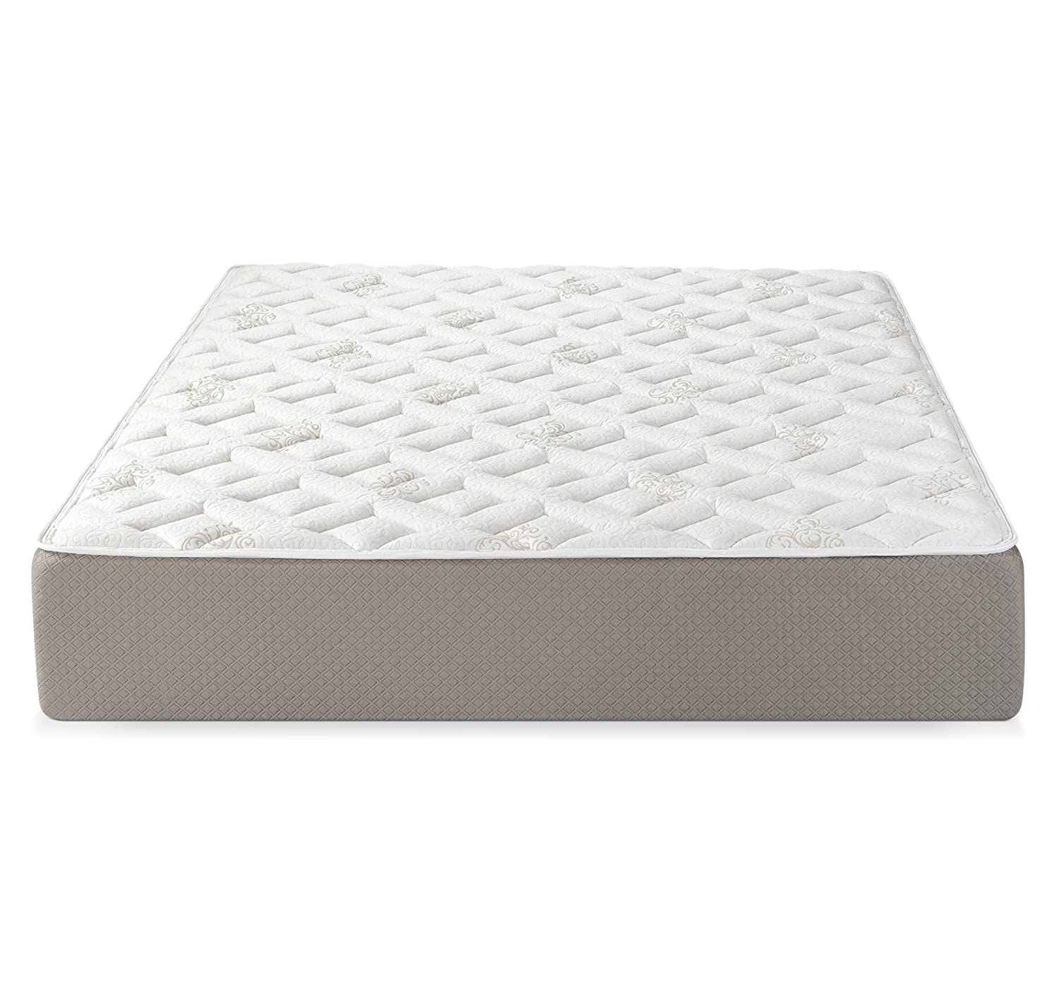 "Amazon.com: Serenia Sleep 12"" Quilted Sculpted Gel Memory Foam Mattress,  Queen, White/Off-White/Brown: Kitchen & Dining"