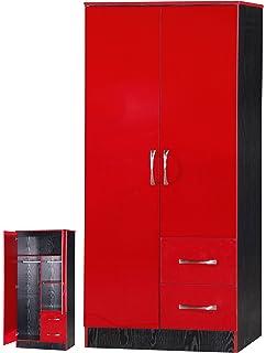 red high gloss furniture. MARINA 2 DOOR DOUBLE COMBINATION WARDROBE ULTRA HIGH GLOSS QUALITY UNITS (RED \u0026 BLACK Red High Gloss Furniture