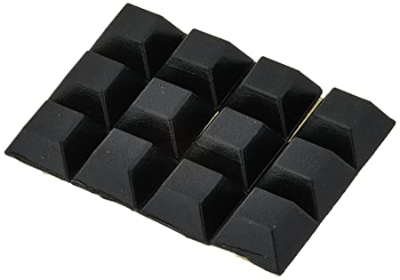 Tools Cheapest Chair Furniture Square 12mmx12mmx6mm Self Adhesive Rubber Pads 12 In 1