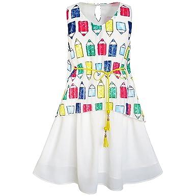 Sunny Fashion Girls Dress Cotton Long Sleeve Unicorn Embroidery Gray Size 2-6