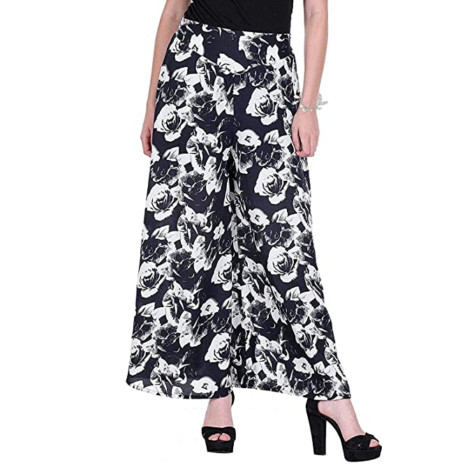 643fd31eb3853 PIXIE lets work together! Women s Girls Wide Leg Printed Crepe  Palazzo Trouser Pack