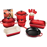 Le Creuset Cerise 16-piece Cookware Set (Cherry Red)