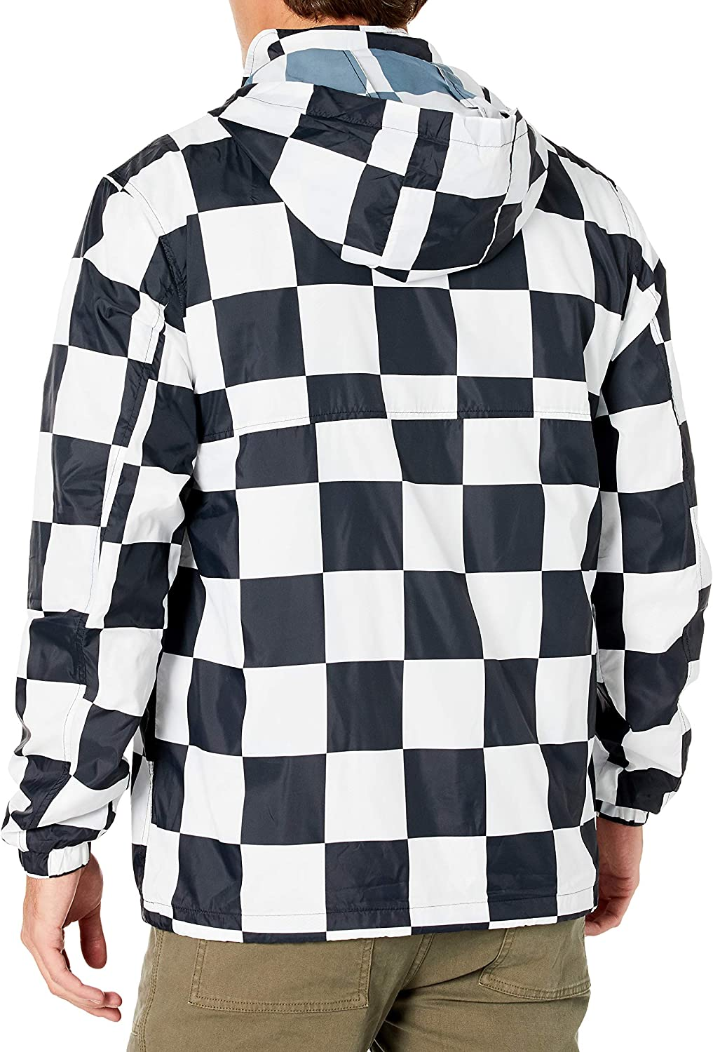 XX-Large Checker Obey Mens Runaround Eyes Pullover Anorak Jacket