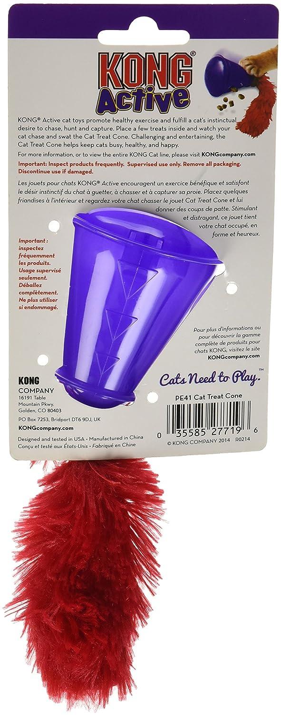 Kong JU03671 Juguete para Gatos Cono Dispensador Chuches: Amazon.es: Productos para mascotas