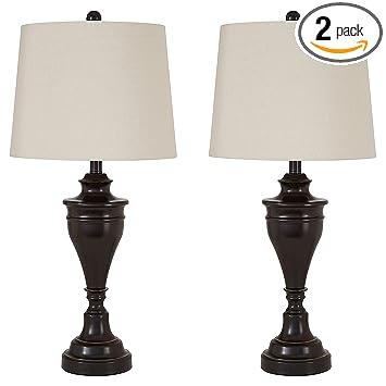Signature Design By Ashley L204024 L204024 Ashley Furniture Darlita Table  Lamp, Bronze Finish,