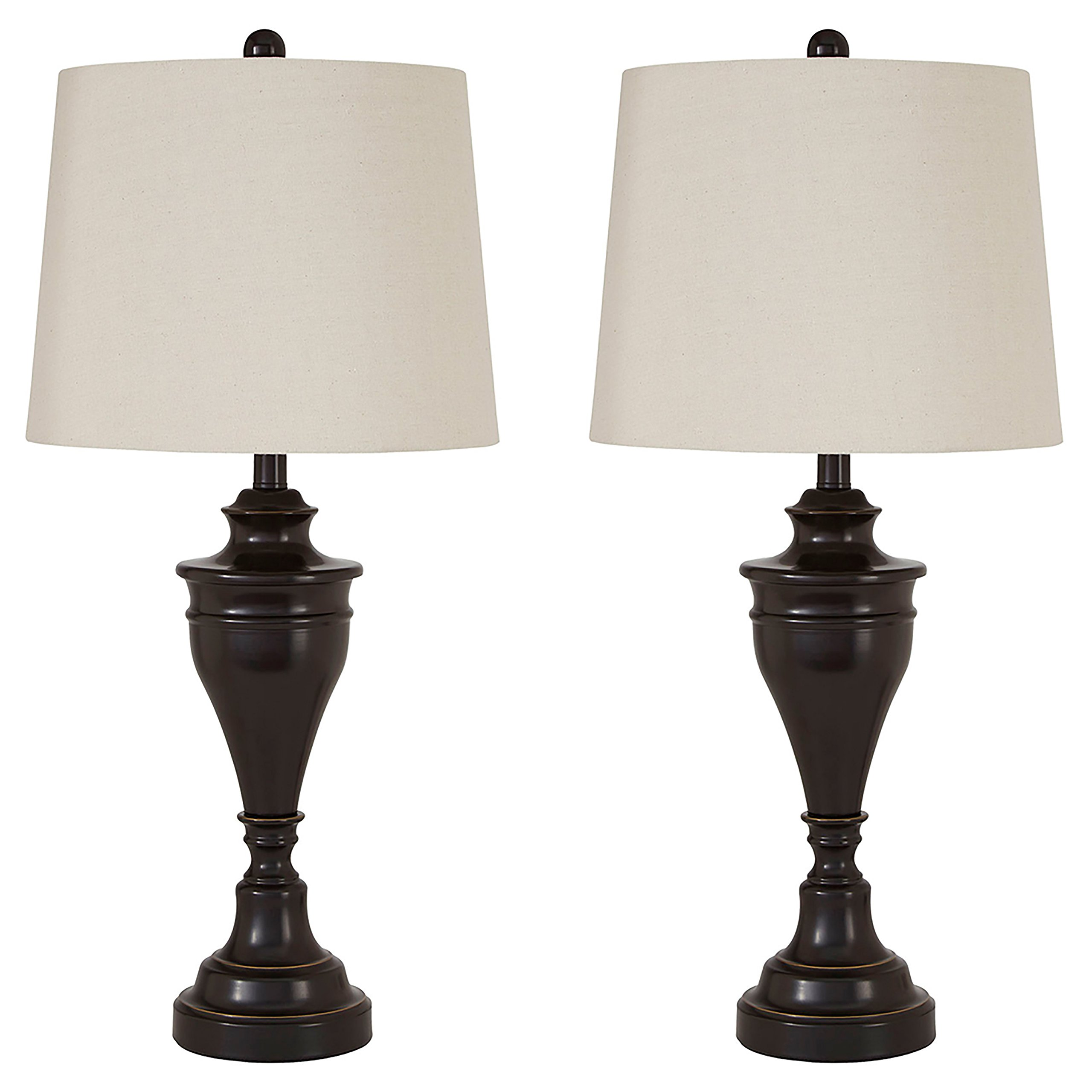 Ashley Furniture Signature Design -  Darlita Table Lamps Set of 2 - Contemporary - Bronze Finish