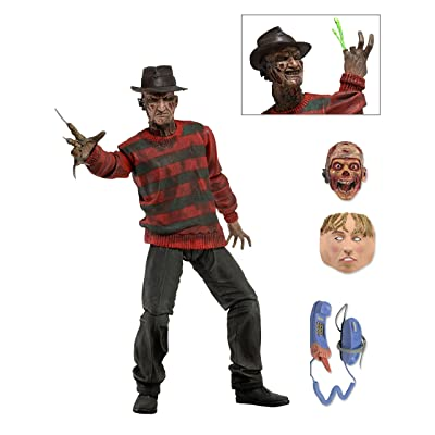 "NECA - Nightmare on Elm Street - 7"" Scale Action Figure - Ultimate Freddy: Toys & Games"