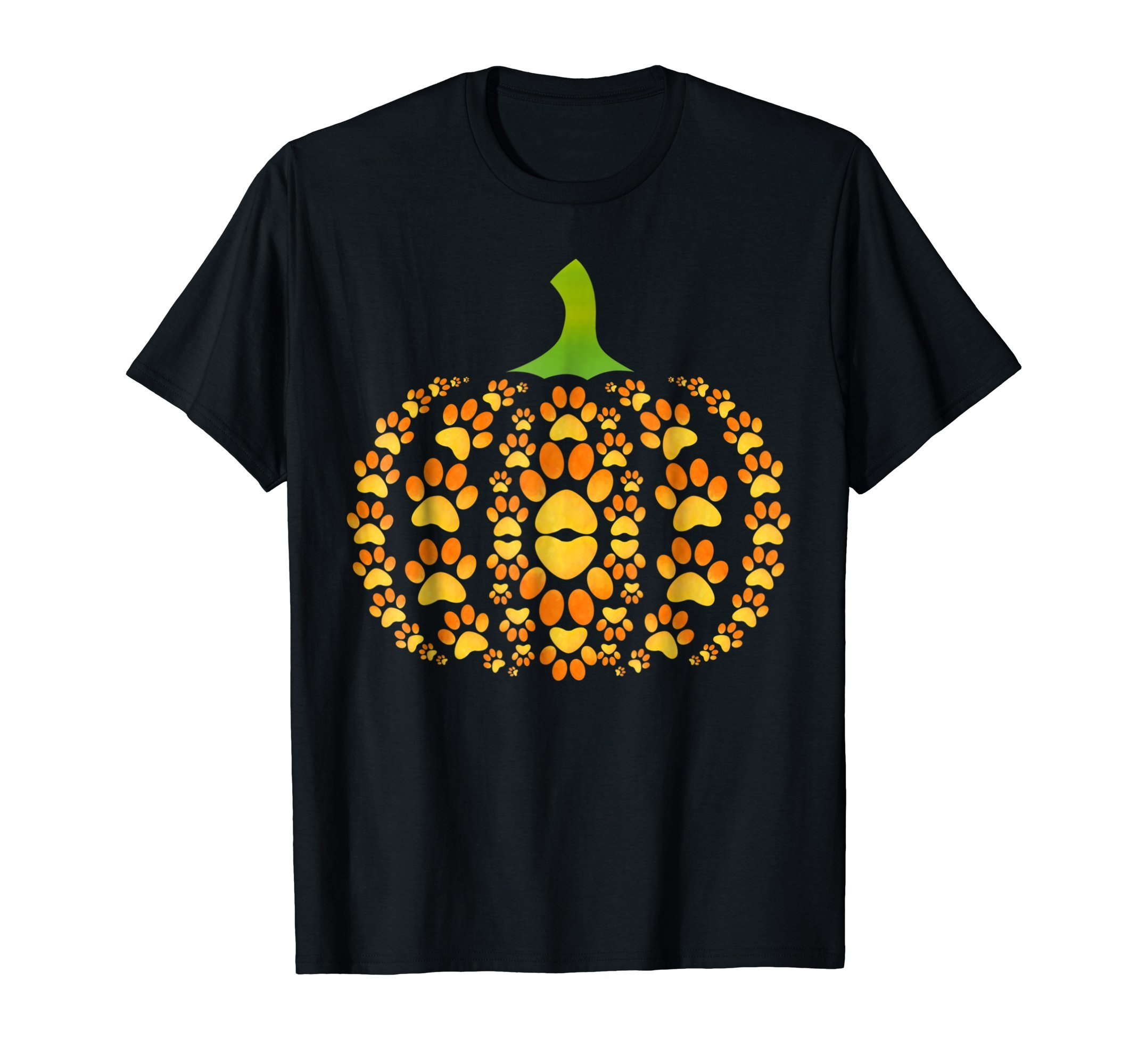 Funny Pumpkin Dog Cat Paw Halloween T-Shirt Pet Lover by Dog Paw Halloween Tshirt for Men Women Kids