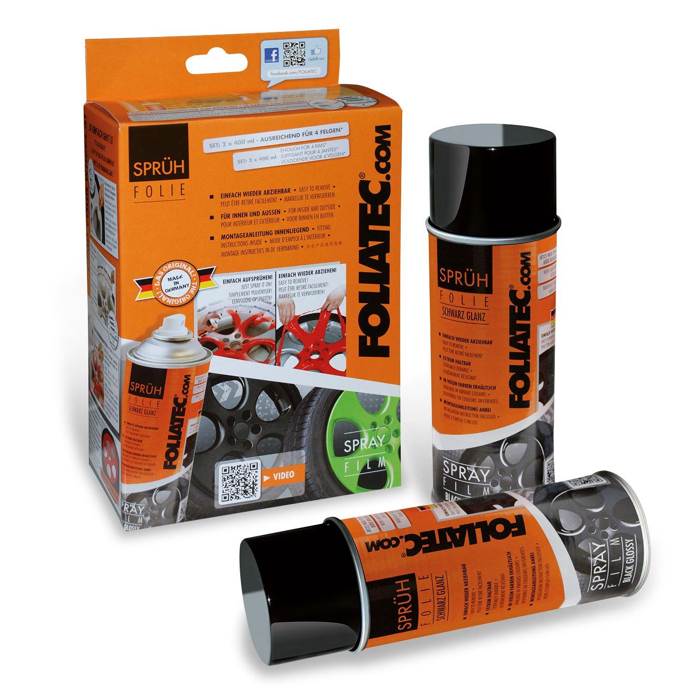 FOLIATEC 2035 Film Spray Protection Jante Noir Brillant new