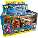 Sbabam Display 10 Unidades LetrAnimal Transforming Secret Robots Jungle Collection