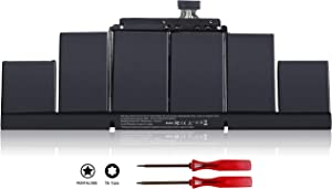 A1417 A1398 Laptop Battery Compatible with MacBook Pro 15 inch Retina A1398 Mid 2012 Early 2013,MC975LL/A MC976LL/A ME664LL/A ME665LL/A MD831LL/A, MC975 MC976 ME664 ME665 MD831 020-7469-A 99Wh 11.26V