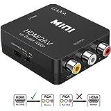 HDMI vers RCA, GANA 1080P HDMI vers AV | 3RCA Convertisseur Vidéo / Audio Composite Prenant En Charge PAL / NTSC Avec Câble D'alimentation USB