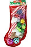 Christmas Stocking Cat Toy Gift Set (14 toys) by Midlee