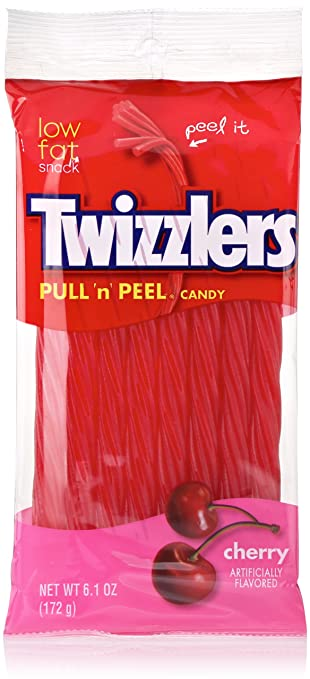 TWIZZLERS PULL 'N' PEEL Cherry Candy (6.1-Ounce Bag)
