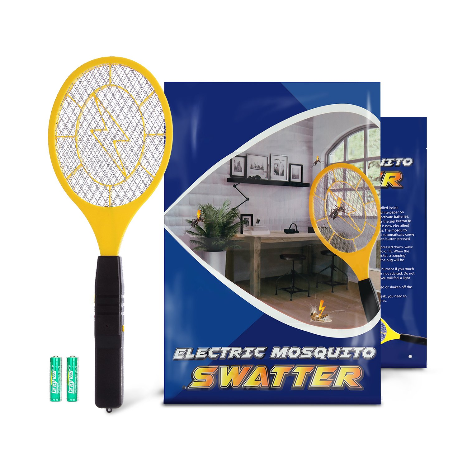 Bug Zapper-Zentouch Electric Fly Swatter Mosquito Zapper against Flies,Bugs,Bees and Other Pest, Suitable for Indoor,Travel, Campings and Outdoor Occasions,Fly Killer with 2 AA Batteries Included