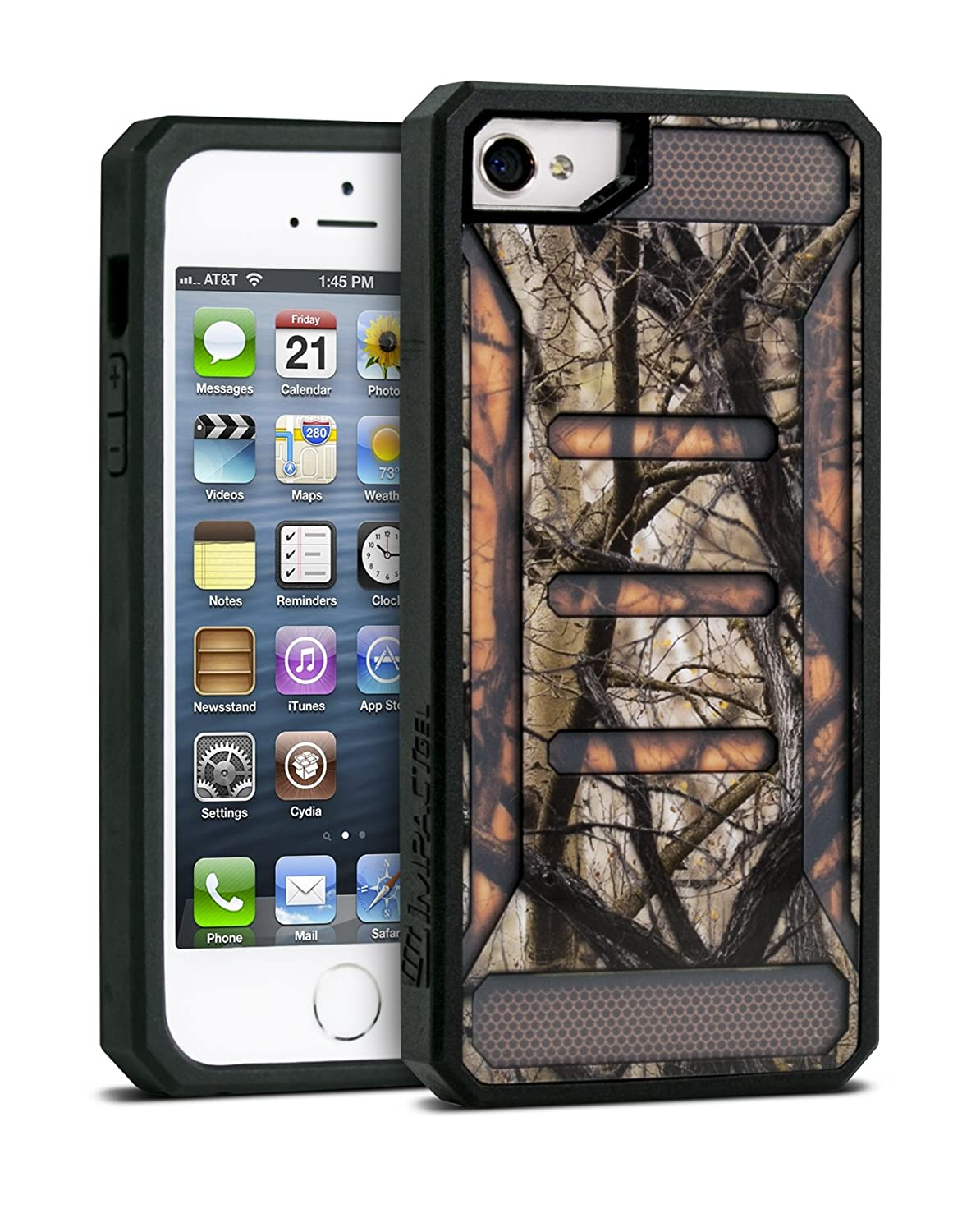 Impact Gel Orange Camouflage Shock Resistant iPhone 5/5s Case