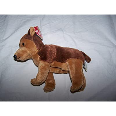 Ty Beanie Babies Courage NYPD German Shepherd Dog: Toys & Games