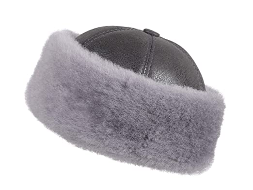 94762f353b5 Amazon.com  Zavelio Women s Shearling Sheepskin Winter Fur Beanie ...