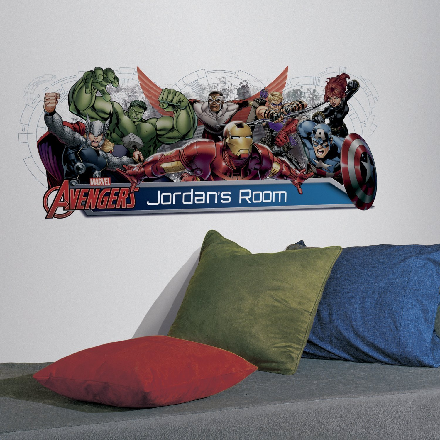 RoomMates Avengers Assemble Personalization Headboard Peel And Stick Wall Decals by RoomMates