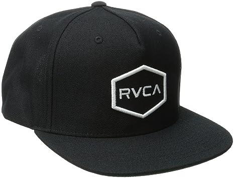 promo code c5bcd 51938 RVCA Men s Commonwealth Snapback Hat, Black White, One Size