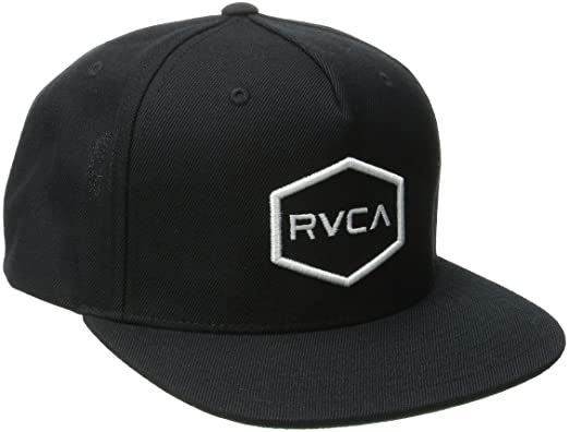 promo code dd48a 9754b RVCA Men s Commonwealth Snapback Hat, Black White, One Size