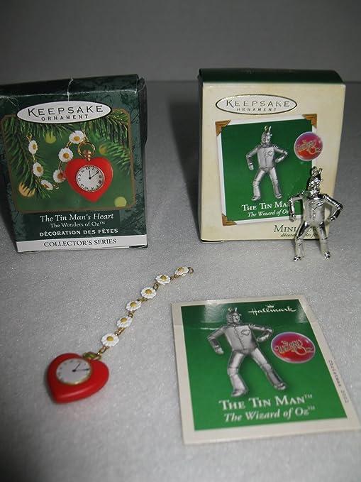 Mago de Oz en miniatura Hombre de Hojalata y estaño Mans Hallmark en forma de corazón