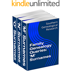 Family Genealogy Queries 3-Book Bundle: 'M' 'N' 'O' Surnames (Southern Genealogical Research)