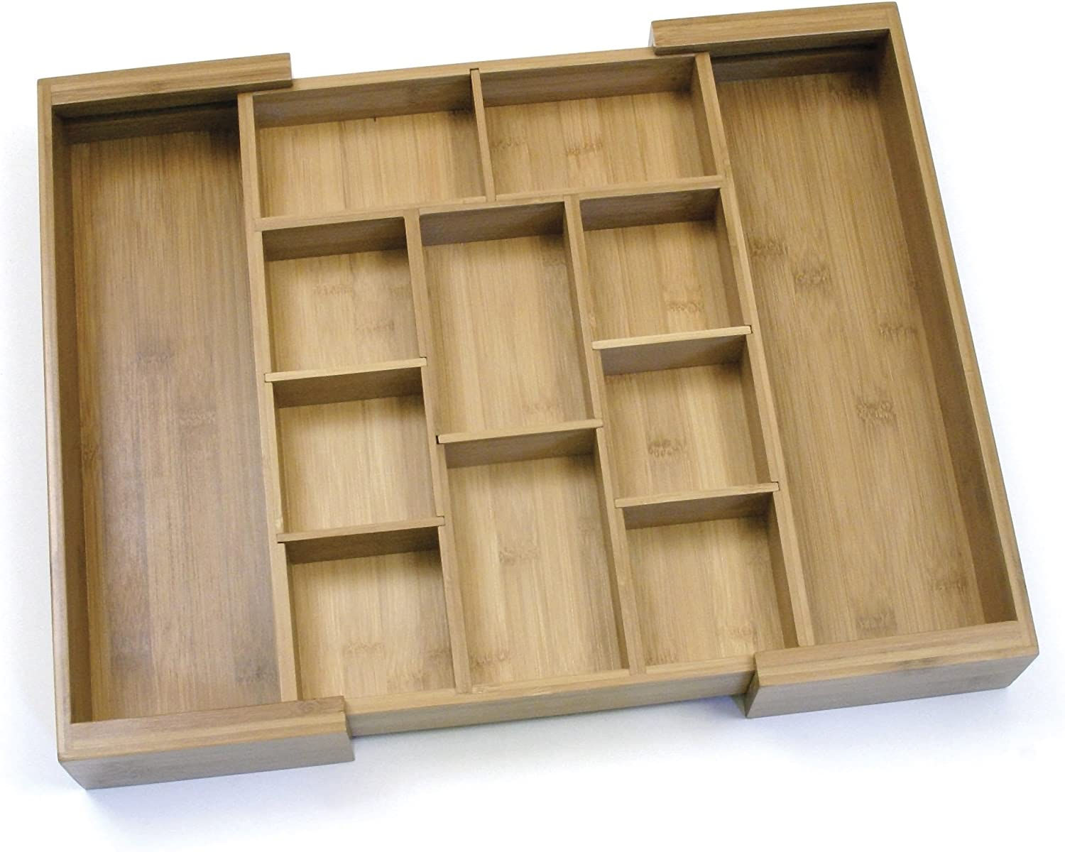 """Lipper International 8882 Bamboo Wood Expandable to 18-3/4"""" Flatware Drawer Organizer with Removable Dividers"""
