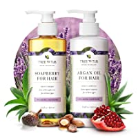 Gentle Argan Oil Shampoo & Conditioner by Tree to Tub—pH 5.5 Balanced Moisturizing Duo with Wild Soapberry & Organic Moroccan Oil - Nourishes Dry Hair & Very Sensitive Scalp, Sulfate Free (2 Pack)