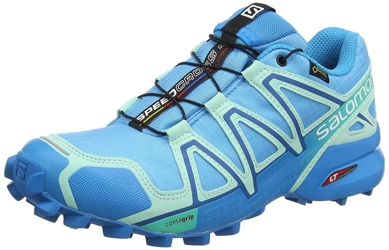 Salomon Speedcross 4 GTX, Calzado de Trail Running para Mujer 45 1/3 EU|Azul (Aquarius/Beach Glass/Hawaiian Surf)