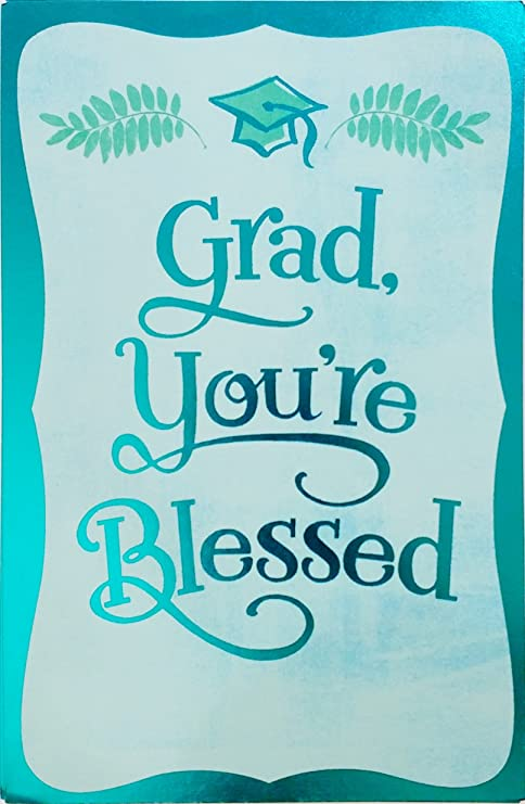 Amazon.com: Grad, estás bendecido – religioso tarjeta de ...