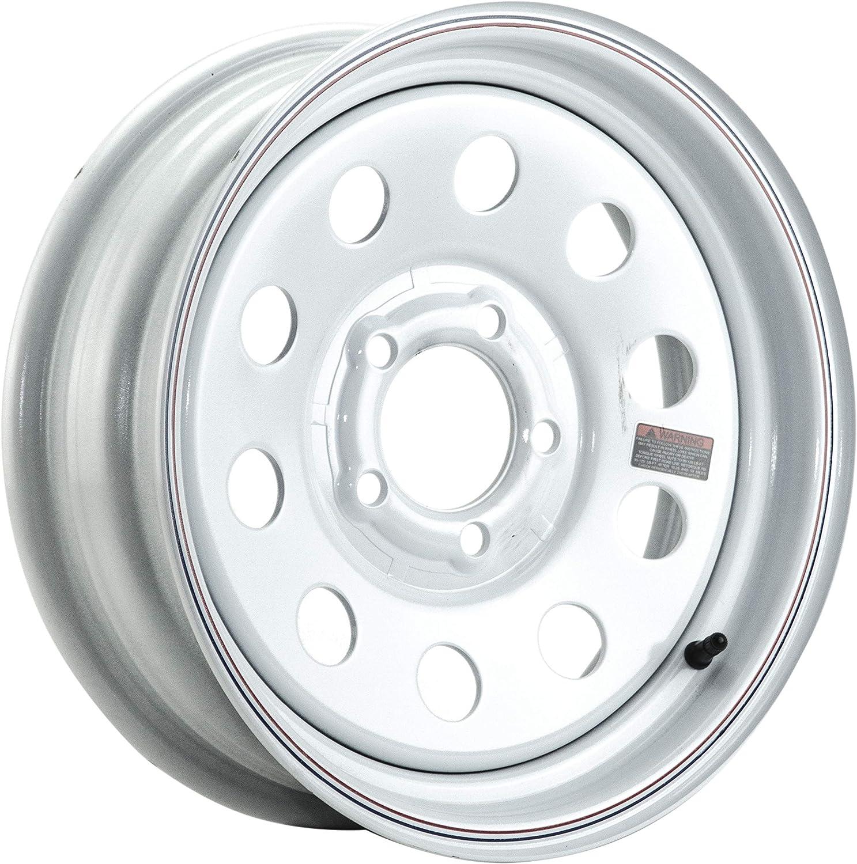 Taskmaster Trailer Wheel 15x5 5x4.5 White Mod Full Paint 3.19 CB 0 OS 2150 LCC Made in Korea