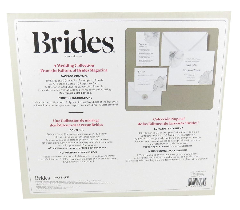 Amazon Gartner Studios Brides Invitation Kit Silver Flower 30