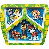 Zak Designs 狗狗巡逻队 3 节儿童盘子、花粉、小砾、岩石、沼泽、动物园、动物园和天鹅