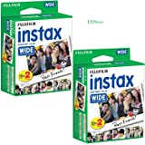 Fujifilm Instax Wide Instant Film 40 Prints for Fuji Instax Wide 210 200 100 300 Photo Camera (2-Pack)