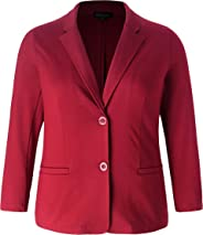 Chicwe Women's Stretch Plus Size Classic Casual Work Suit Jacket Blazer 1X-4X