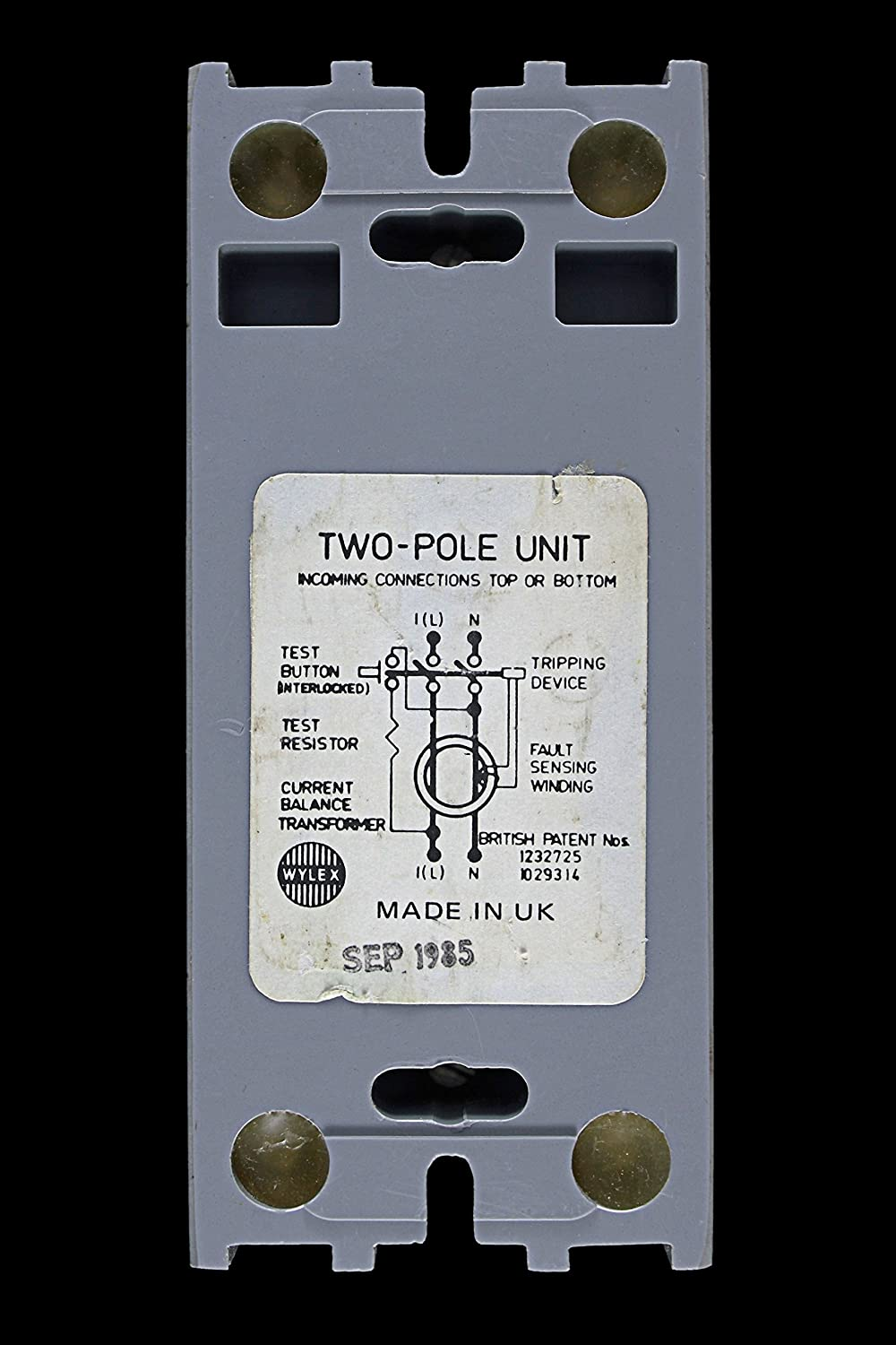 Wylex 25 AMP 30mA DOUBLE POLE RCCB RCD WES 25/2: Amazon.co.uk: Kitchen &  Home