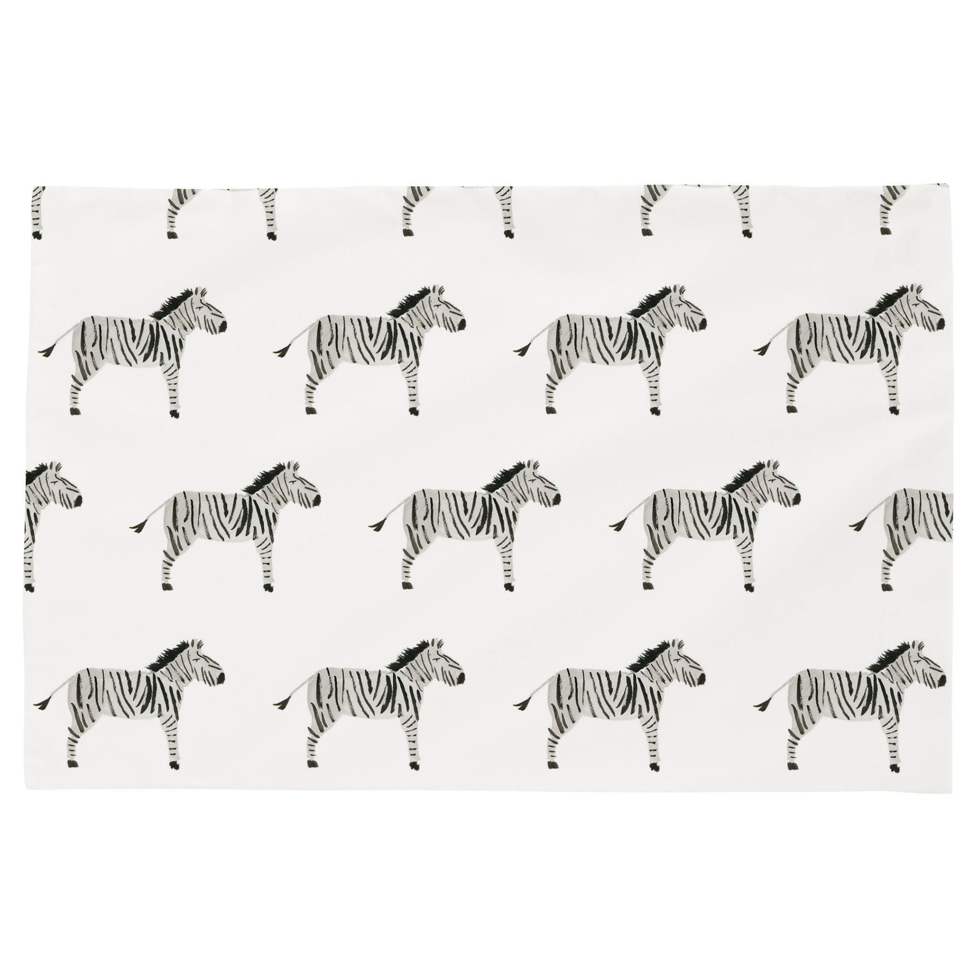 Carousel Designs Painted Zebra Toddler Bed Pillow Case