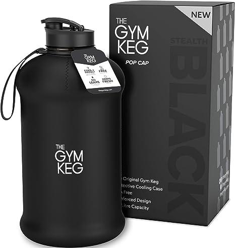 Gym Keg la Migliore Borraccia d/'Acqua Ecologica Senza per Sportivi Contiene Fino a Mezzo gallone Borraccia Resistente d/'Alta qualit/à di 2,2 Litri con Manico Borraccia d/'Acqua per Bodybuilding