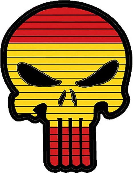 TaiwanGun Flag Punisher Skull Spain España PVC Patch: Amazon.es ...